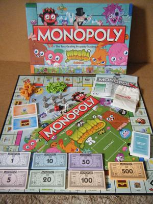 Monopoly (Moshi Monsters Edition) board game. By Hasbro . Nice condition & complete.