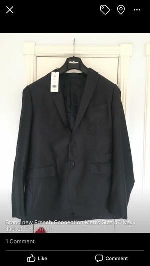 Brand new French Connection Navy Jacket Size 44 with tags