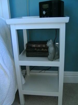 Pair of white painted bedside tables
