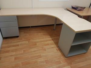 executive maple office desk with