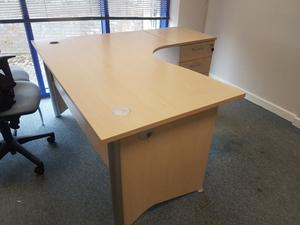 executive managers maple office desk with desk high
