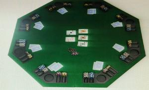 Poker Table Top And Poker Chips Set