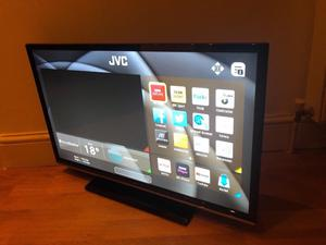 """Jvc 32"""" full hd smart led WiFi tv. Great condition.full working order £160 NO OFFERS. CAN DELIVER"""