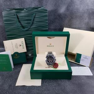 Rolex Daytona Silver Black Face - Complete Set Box And Papers 1 Year Free Warranty