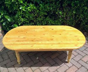 Solid large pine coffee table