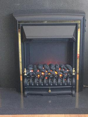 Electric fireplace insert fire