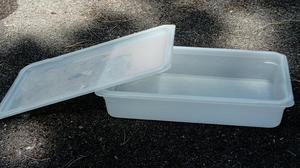 Gastronorm food container with lid