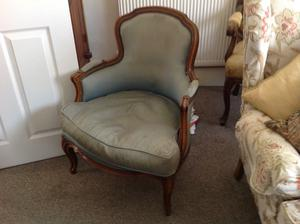 Two antique Louis XV Bergereres chairs