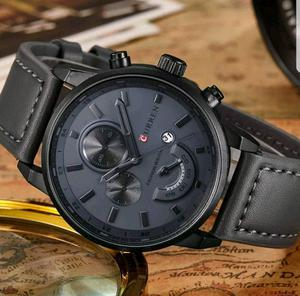 BRAND NEW CHARCOAL GREY CURREN CHRONOGRAPH WATCH