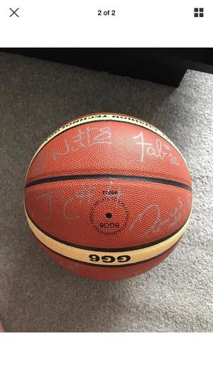Basketball signed by Newcastle eagles