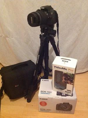 Canon EOS 700D mm with rode video mic pro new in the box