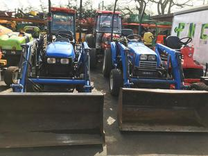 Iseki compact tractor with front loader