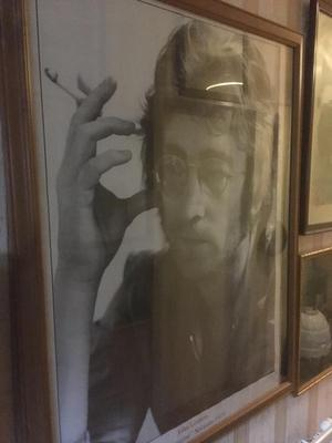large picture of John Lennon the imagine session