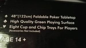 Poker Table Top And Poker Set