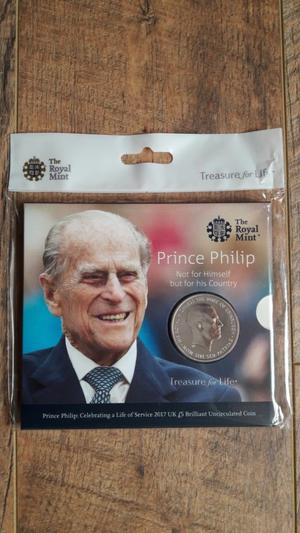 5 x Prince Philip Celebrating a Life of Service  UK £5 POUNDS BU Coins