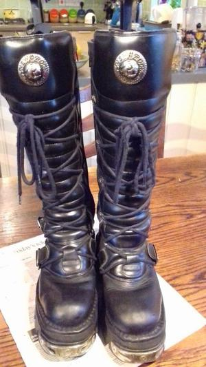 Women's New Rock leather boots size 38