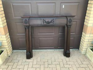 Wooden Fireplace Surround Mahogany Colour