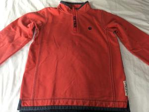 Fat Face 1/4 zip Red long-sleeve sweatshirt ( years size)