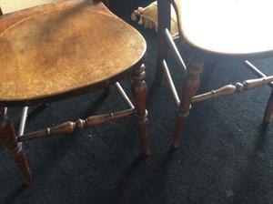 2 lovely little antique chairs