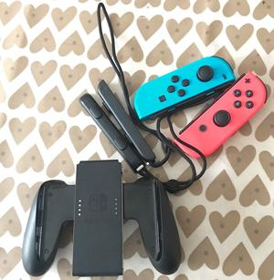 Nintendo Switch Neon Joy-Con set with Grip and Straps