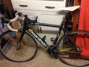 Boardman Team Carbon Road bike with accessories