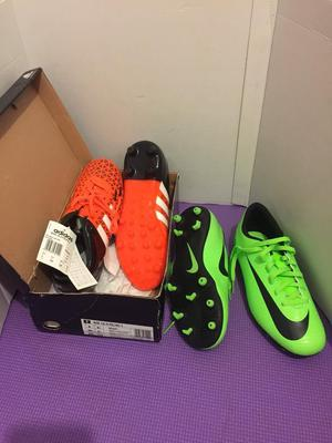 2 x brand new kids football boots sizes: 5 and 5 ½