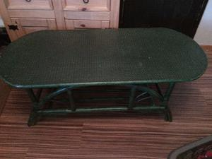 large green oval wooden coffee table new