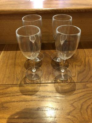 Plastic Wine Goblets Caravaning/Camping/tenting or festivals