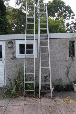 Ladders - aluminium extending to approximately 7 metres