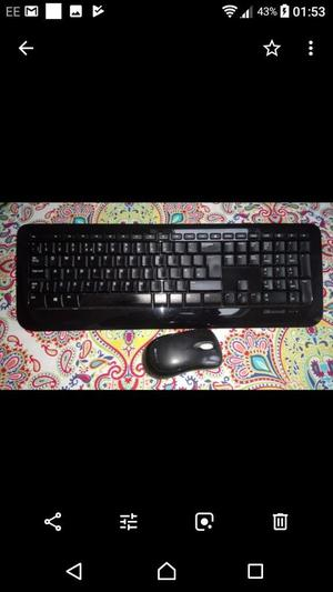 HP monitor with wireless keyboard and mouse.