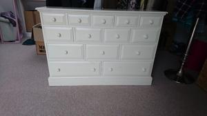 Set of Painted Wooden Decorative Drawers