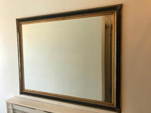 Large Mirror - Black and Gold Ornate Frame
