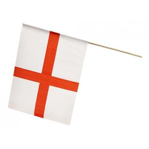 "Pms 12""x18"" St George Rayon Flag On 24"" Wood Stick -"