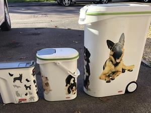 Curver dog food storage containers