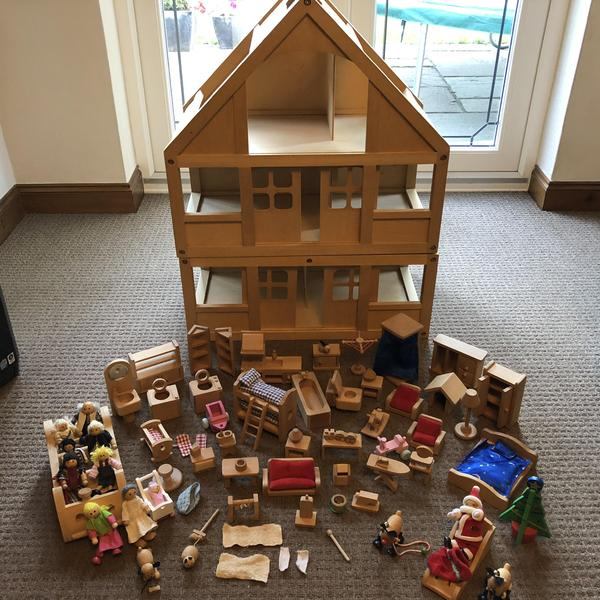 Early Learning Centre Dolls House with Lots of Furniture.