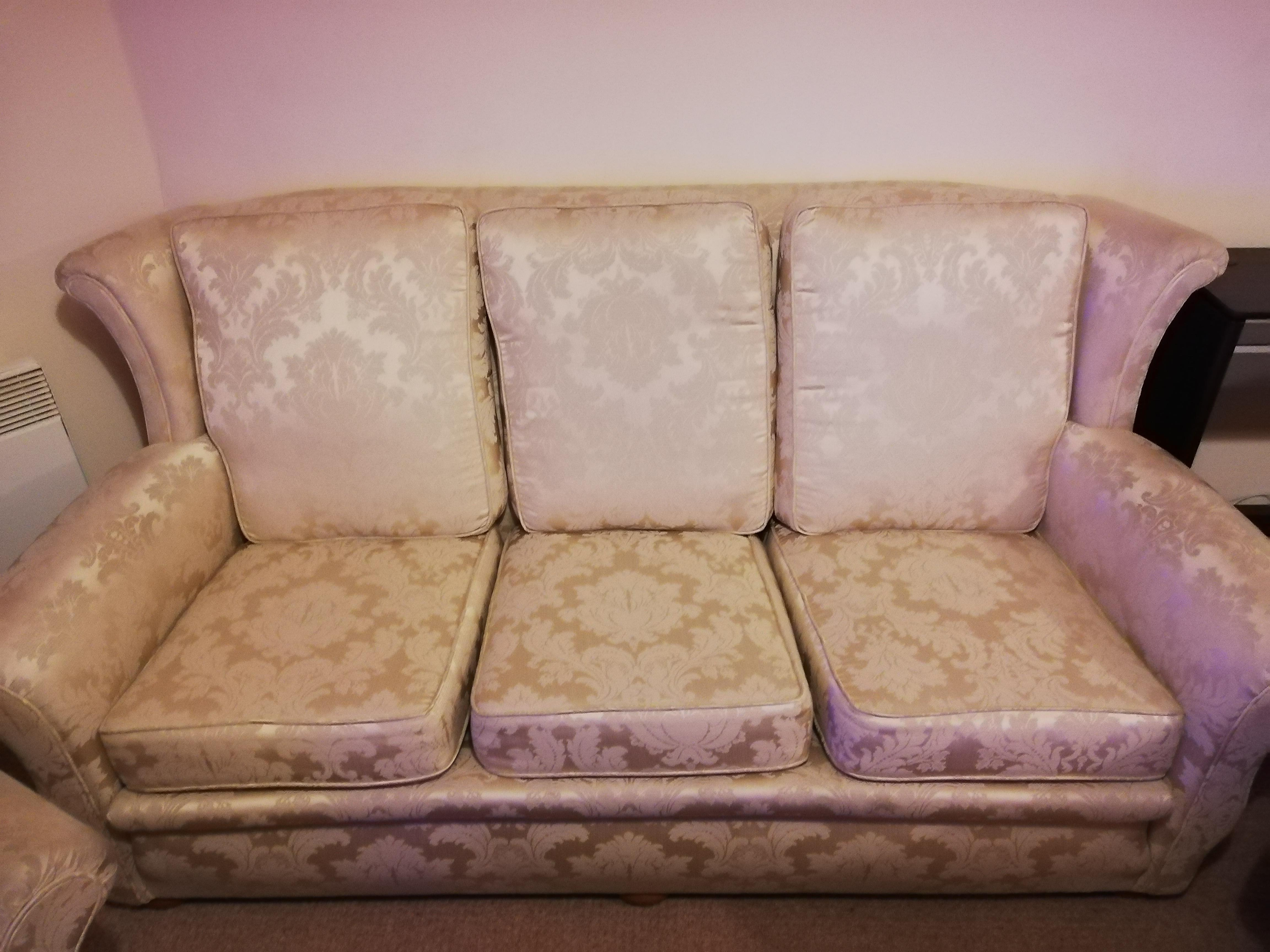 Three siter luxury sofa with two arm chairs