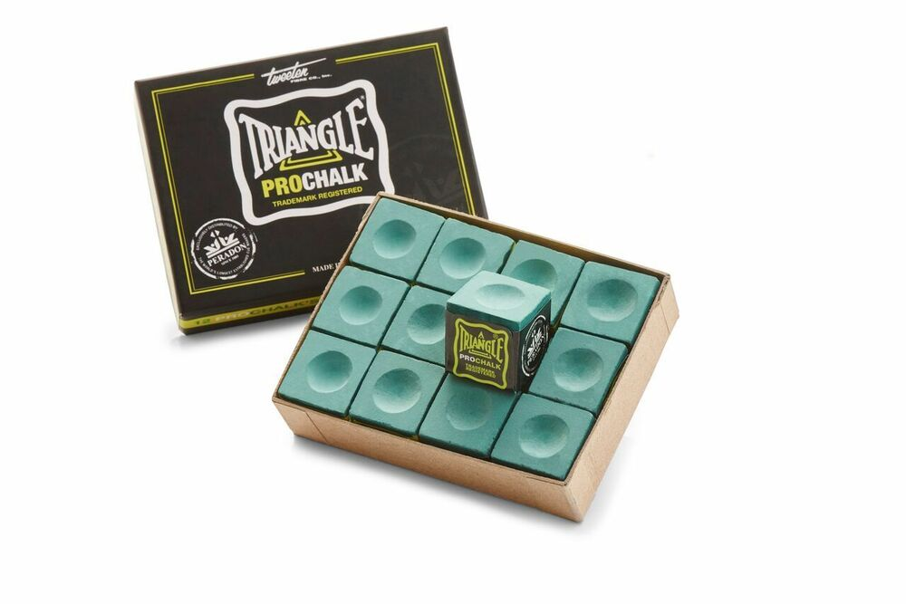 BOX 12 PIECES OF GREEN TRIANGLE PRO CHALK FOR THE SERIOUS