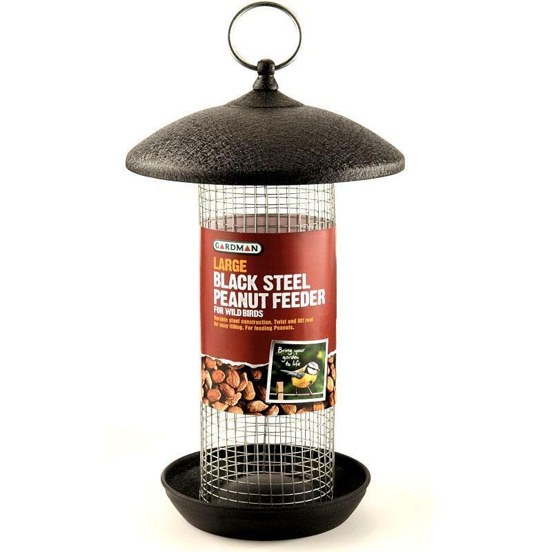 Metal Peanut / Nut Silo Wild Bird Feeder Large Gardman