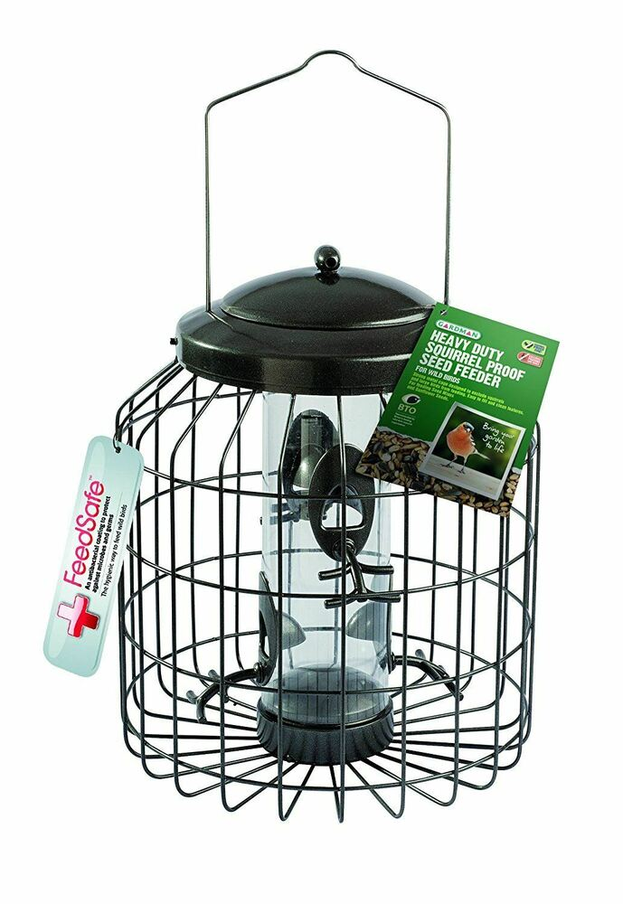 QUALITY Hanging Wild Bird Feeders Squirrel Proof Guard