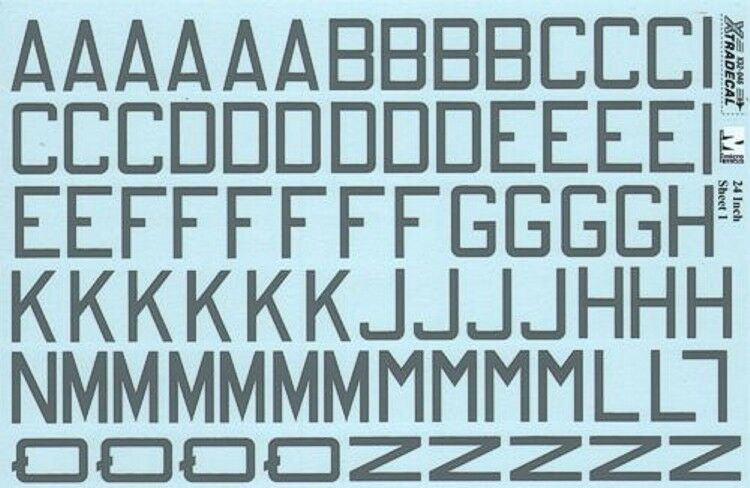 """NEW Xtradecal X RAF Code Letters and Numbers 24"""""""