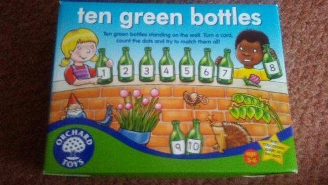 orchard toys ten green bottles game excellent condition box