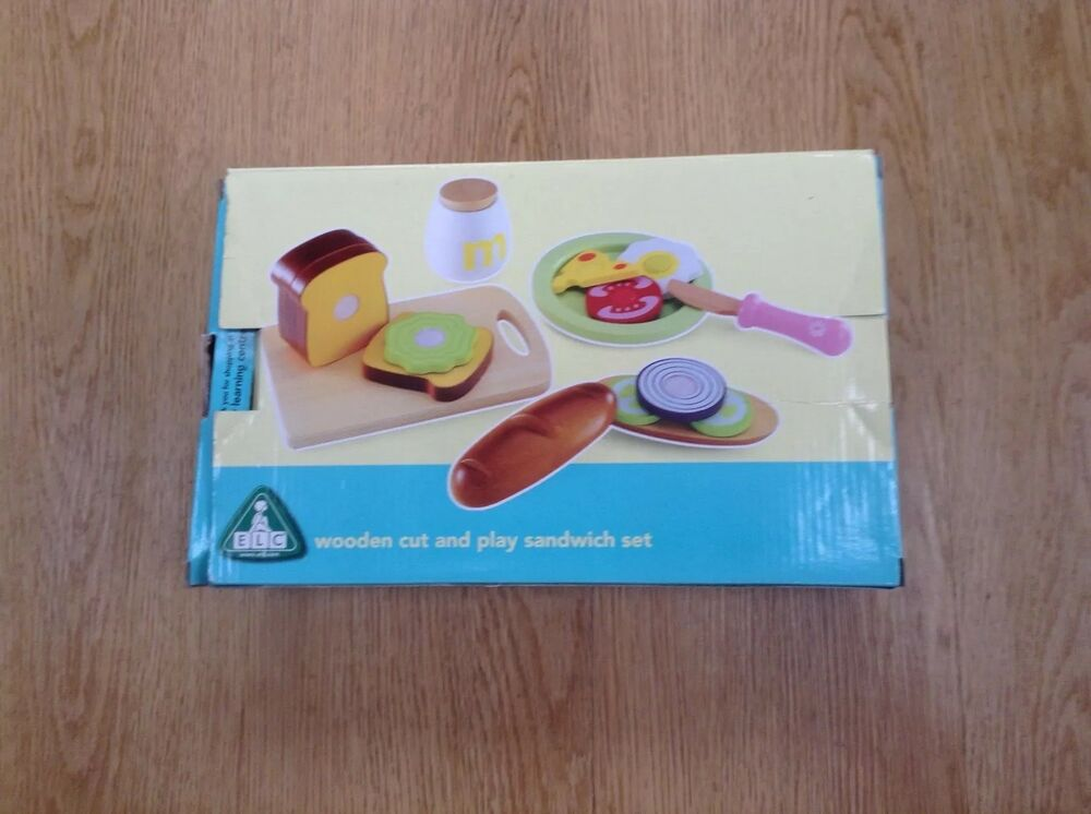 ELC Wooden Cut and Play Sandwich Set - Early Learning Centre