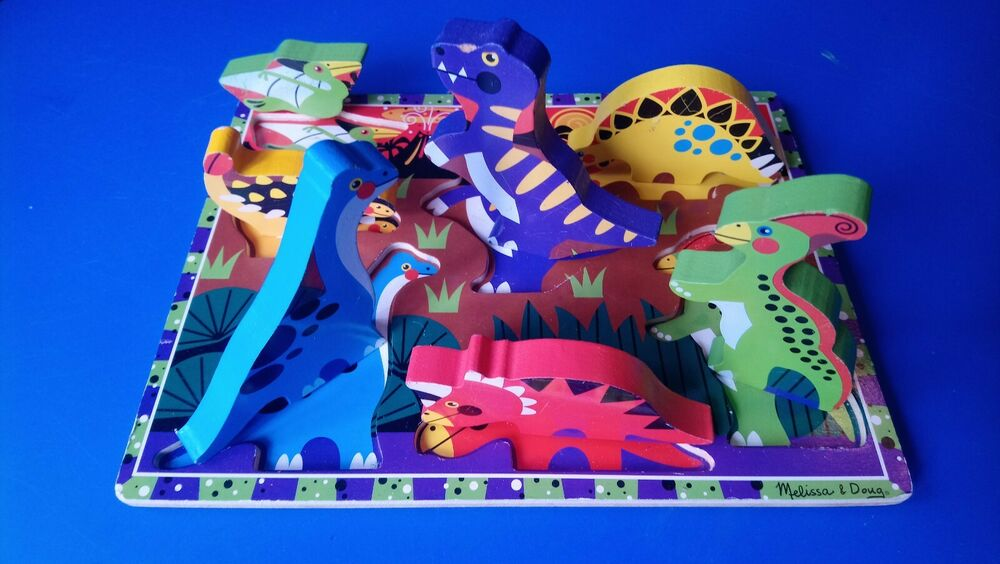 Melissa and Doug  - Dinosaurs Wooden Chunky Puzzle