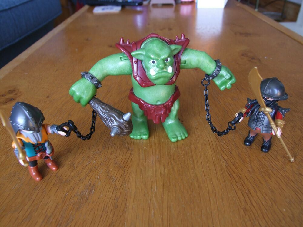Playmobil Knights Giant Troll with Dwarf Fighter Figures