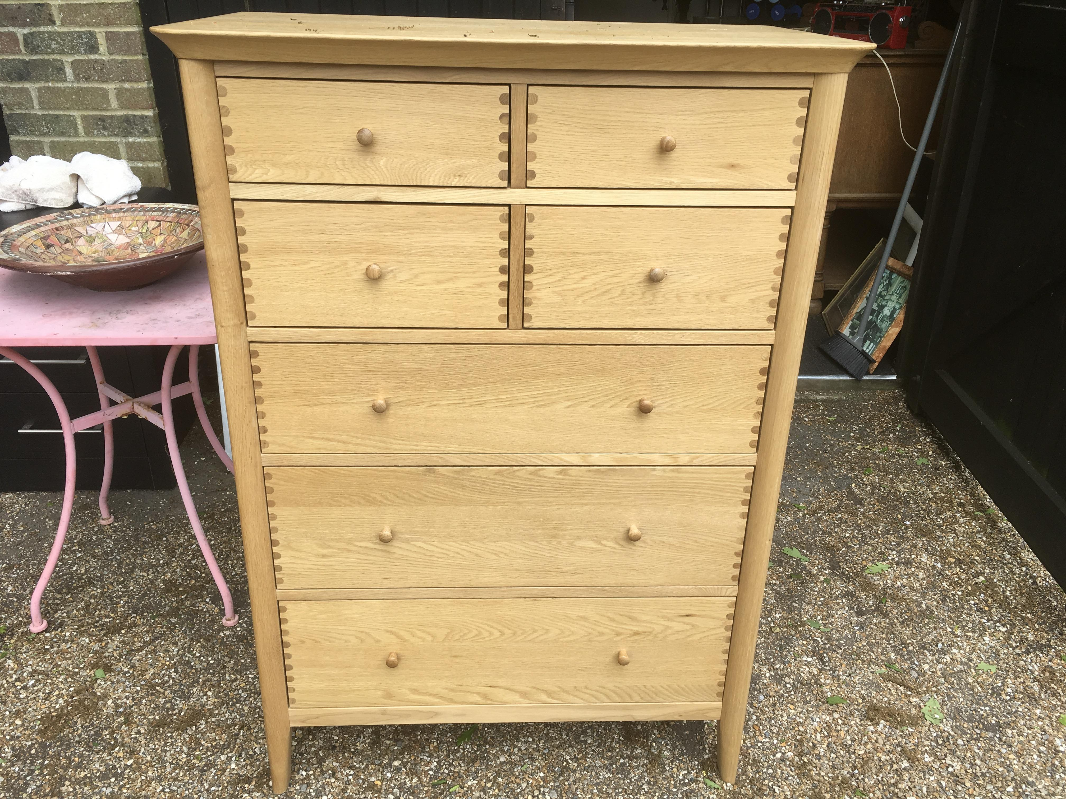 John Lewis Solid Wood 7 Draw Chest of Draws - Essence Range