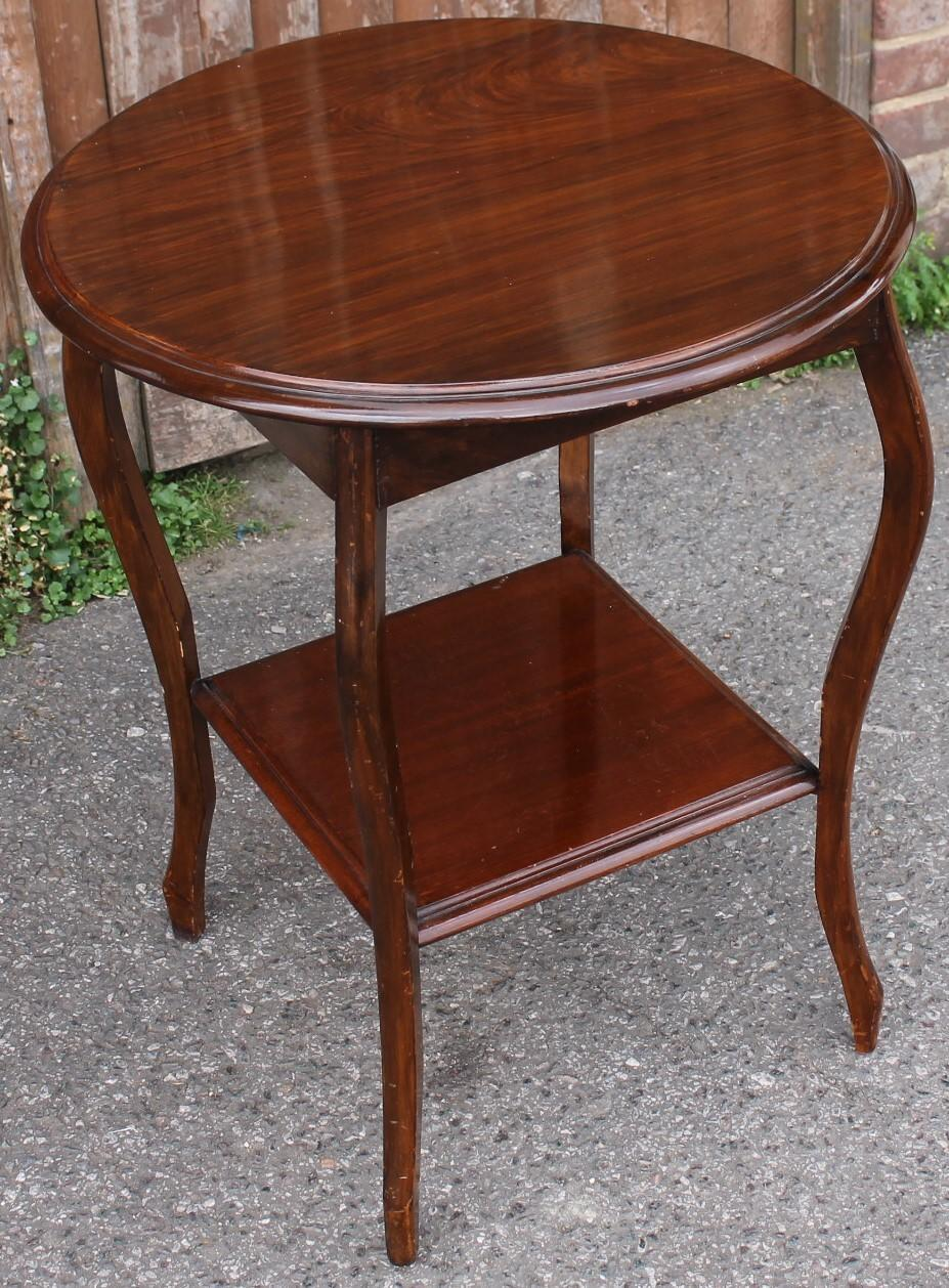 Round Two Tier Side Table