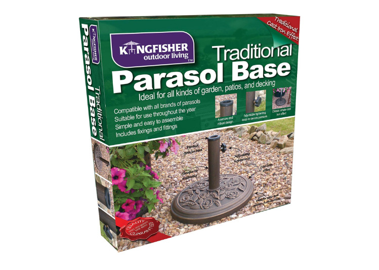 Kingfisher 9kg Cast Iron Effect Parasol Base 45x45x32.5CM -