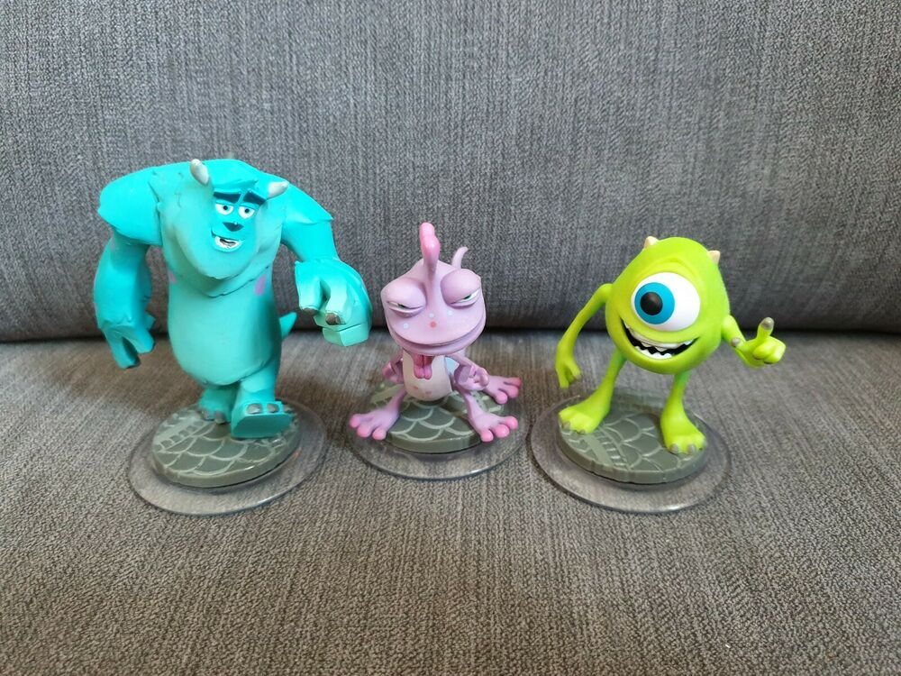 Disney Infinity 1.0 Monsters Inc Figure Bundle Sully Mike