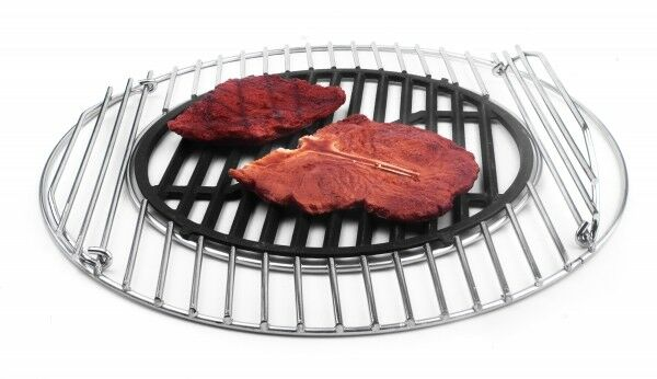 Stainless Steel Grill 44,5cm with Gusseinsatz Approx. 30cm!