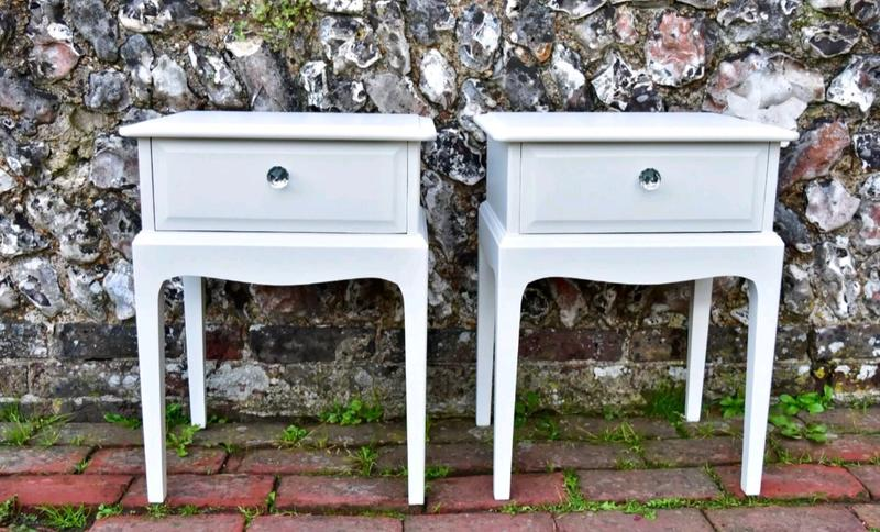 Romantic Pair of Stag Minstrel bedside tables.
